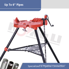 Hongli H401 Tri-suporte Chain Vise para Max 6 Inch Pipe