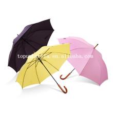 Paraguas recto de 23 pulgadas * 8 perchas con paraguas de mango de madera