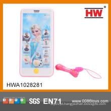 Elétrica de plástico Inglês Touch Screen Toy telefone com música (bateria não incluída)