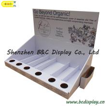Soporte de exhibición del aceite esencial, caja de presentación cosmética del papel PDQ (B & C-D043)