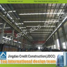 Bâtiment galvanisé d'usine de structure métallique de tôle d'acier de couleur