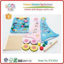 EN71 2015 juguete de madera de la carretilla de la alta calidad para el bebé