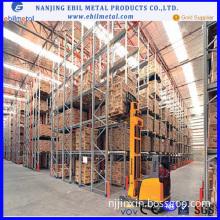 China Nanjing Ebil Metal Rack Vna Racking / Pallet Racking /Long Span Racking with High Quality