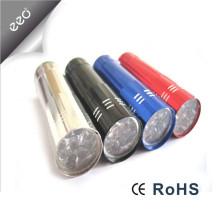 Fabrik Versorgungsmaterial Bunte 3AAA Batterie angetriebenes Geschenk geführte Taschenlampe, Aluminiumgeschenk Fördernde kleine Leistung führte Taschenlampen