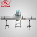 Cuatro cabezas líquido llenado automática línea de producción de la máquina