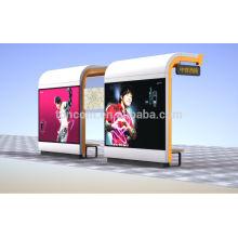 THC-55 grand abri d'arrêt de bus avec double boîte publicitaire