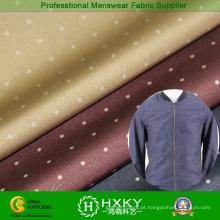 Polka DOT impresso tecido poli para jaqueta Men′s