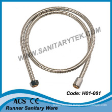 No Extensible Single Lock Stainless Steel Flexible Shower Hose (H01-001)