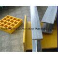 FRP / GRP Stairtread Cover, fibra de vidro Stairtread, an-Slip Stair Nosing.
