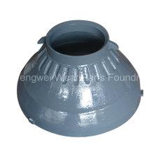 Piezas de desgaste de trituradora de cono para Metso Gp100-Gp500