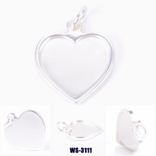 Heart Shape Zinc Alloy Pendant for Lady Bags