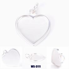 Сердце формы цинковый сплав подвеска для леди сумки