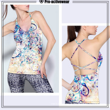 2016 Venda Por Atacado Novos Hot Sales Custom Design Yoga Sports Mulheres Fitness Tank Tops
