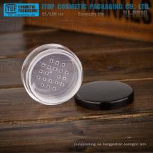HJ-PR10 grosor material monocapa con tamiz hermoso 10g 10g polvo frascos