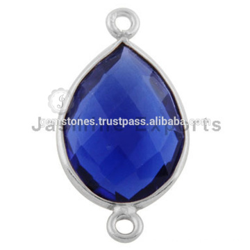 925 Sterling Silver Gemstone Bezel Connector Link