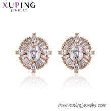 96025 Xuping Charm Damen Schmuck Mode Designs Diamant Ohrringe
