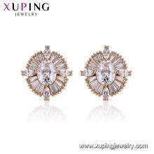 96025 Xuping charme senhoras jóias moda desenhos brincos de diamante