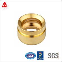 Детали резки лазера высокой точности CNC / золотистые металлические части металла