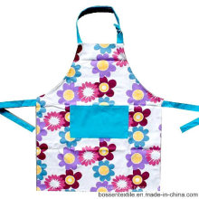 Custom Made Floral Flowers Pattern Printed Cotton Kitchen Women′s Cooking Baking Bib Apron