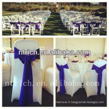 Ceinture en satin fantaisie pour chaise de mariage/banquet