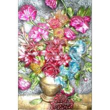 Decoración del Hogar Flor Pintura Por el Petróleo Pintado a mano