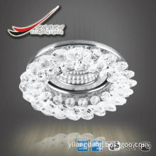 unique clear+various color crystal decorative light of flower series