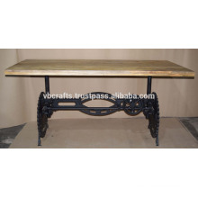 Industrial Metal Crank Dining Table Eye Mid Style