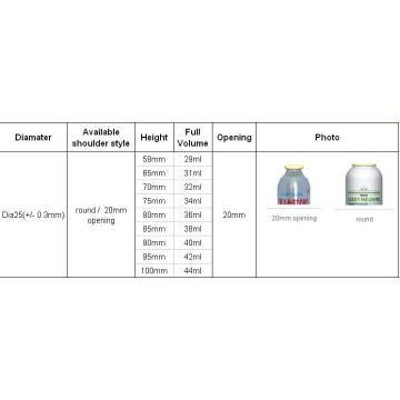 Spray Aerosol Tinplate Can (BN-Aerosol puede-Dia25mm)