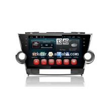 Kaier фабрика -четырехъядерный сенсорный экран андроид 4.4.2 автомобильный DVD для Тойота Хайлендер 2012 ссылка +Mirrior +кабель obd2+ТМЗ +ГЛОНАСС