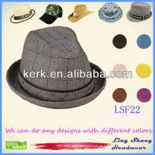 2013 neueste Art und Weise bequeme preiswerte Gewebe Fedora Hut Jungen Fedora Hüte Mode Vintage Fedora Hüte Rocker Fedora Hüte, LSF22
