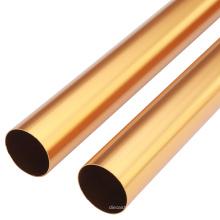 Tubo de tubulação de liga de alumínio anodizado colorido 6061 T5