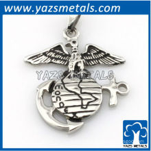 customize design pendant, custom made vulture and anchor pendant