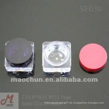 SF030 quadratische Kristallaugenliner Plastiksahneglas