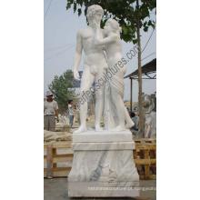 Pedra Mármore Figura Menina Estátua Escultura Italiana para Jardim (SY-X1006)