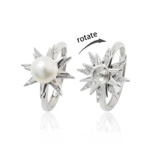 Ready to Ship High End Rotate Freely Ring Fidget Anxiety Ring in 925 Sterling Silver