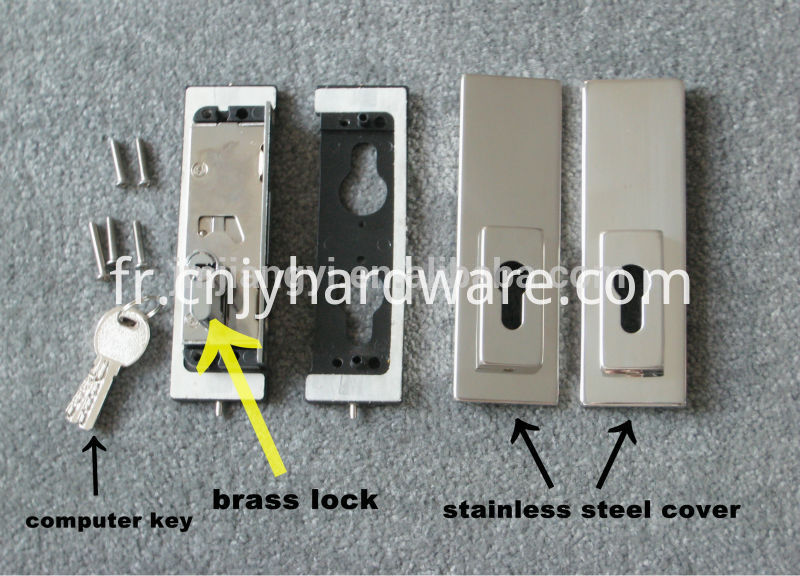Glass Door Lock Patch Fitting