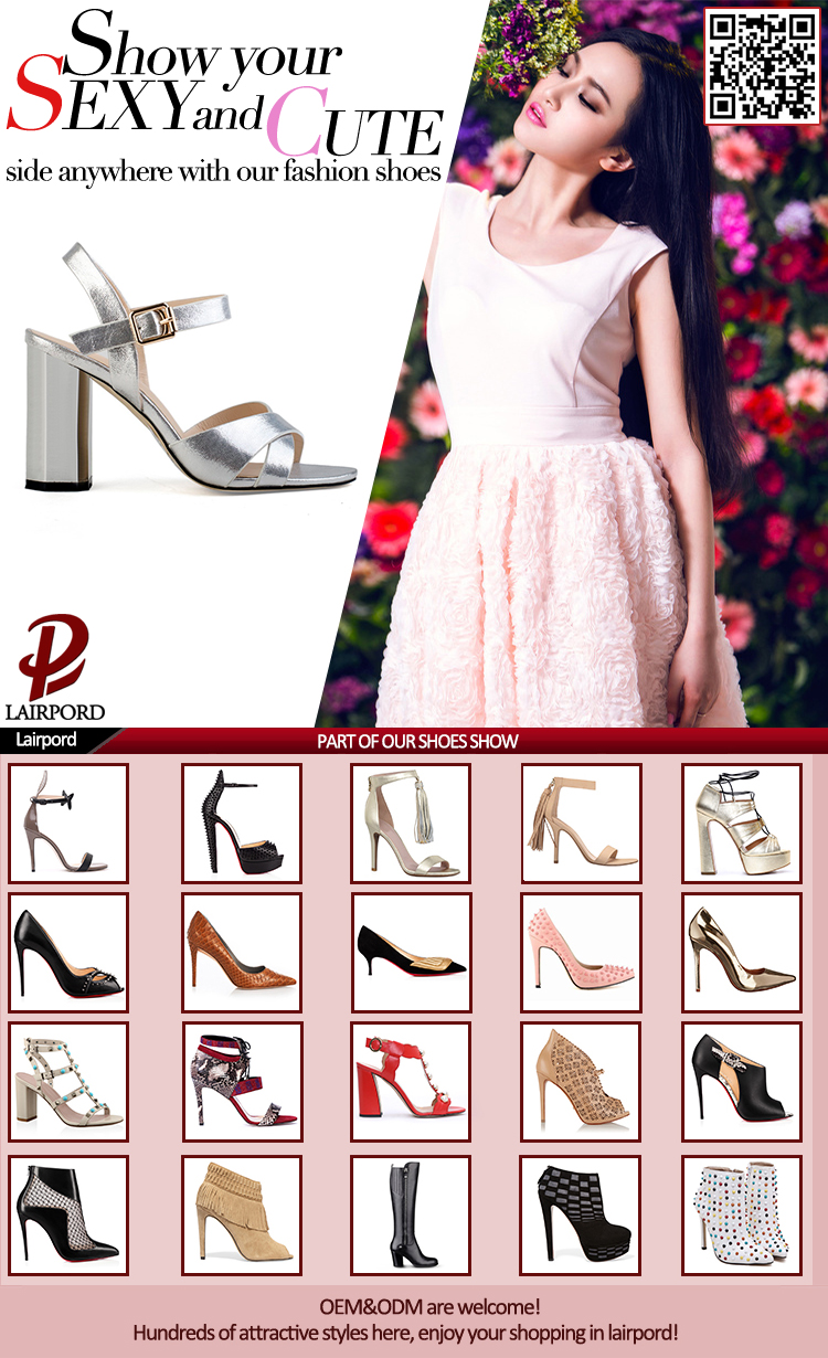 PU sandals with crystal heel