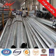 Línea de 33kV alimentación Dodecagonal postes para distribución de energía con galvanizado y recubierta de polvo