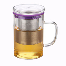 Kundenspezifische Edelstahl-Filter-Glas-Tee-Schale für Geschenke