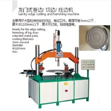 oil pressure cutting edge, edge pressing and coiling machine