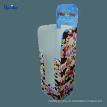 4C, der kundenspezifischen recyclebaren Pappschirm-Präsentationsständer, Regenschirm-Pappanzeige für Supermarkt druckt