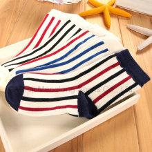 Estilos clássicos meninos listras meias de algodão