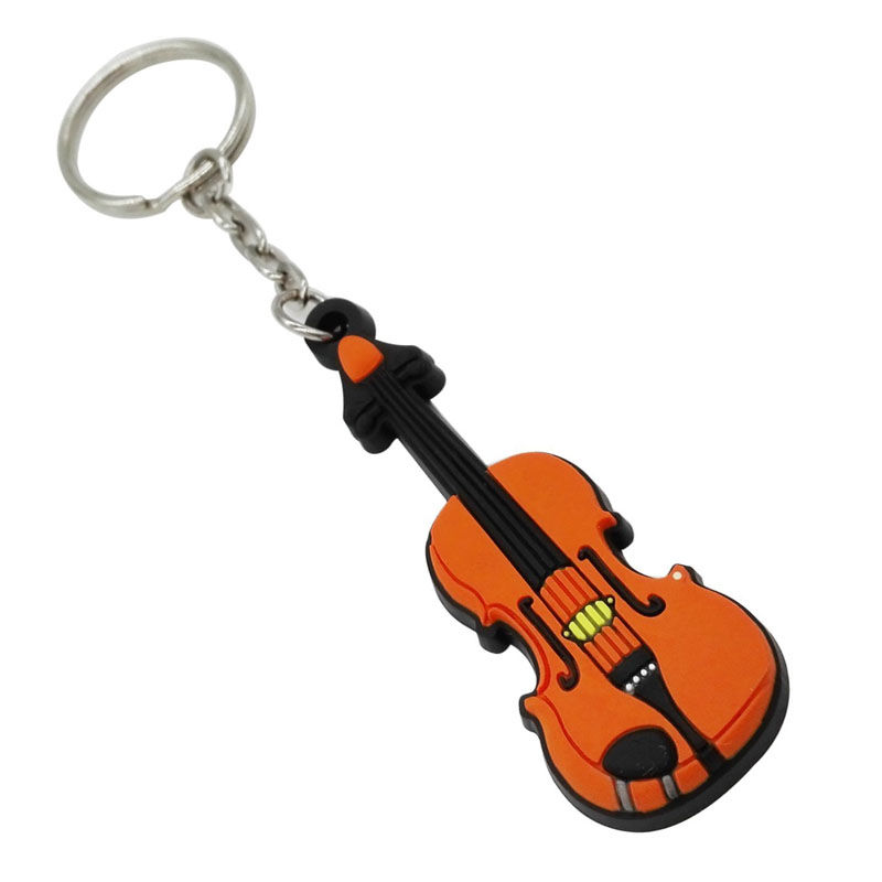 Sound Harbor Silicone Violin Key Chains