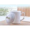 2016 Taza blanca del grano del haonai caliente de la venta con la tapa