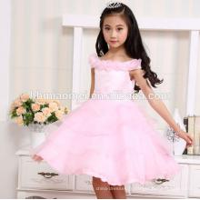 nouvelle mode couleur blanche été 2 ans fille robe pour le mariage et la fête