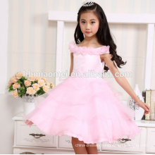 new fashion white color summer 2 year old girl dress for wedding and party
