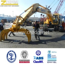 Excavator timber grab buckets dual scoop grab