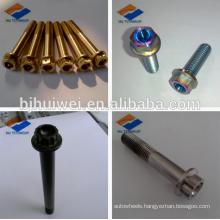 titanium 12 point flange head bolt/hex flange bolt