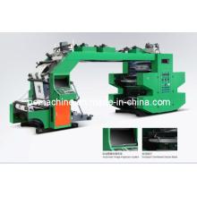 4 cores de alta velocidade flexográfica máquinas de impressão