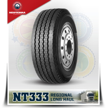 Chinese best TBR manufacturer Neoterra 385/65R22.5 NT333 four grooves trailer pattern long haul truck tyre